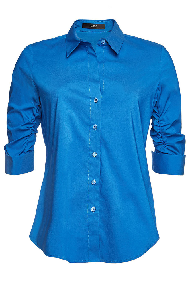 Steffen Schraut Blouse with Cotton  in blue