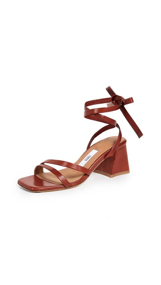 Miista Quima Laceup Sandals in red