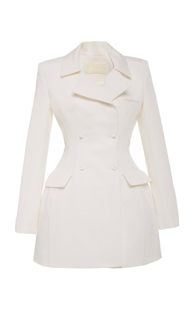Danielle Frankel Lia Silk Blazer Dress Size: 0 in white