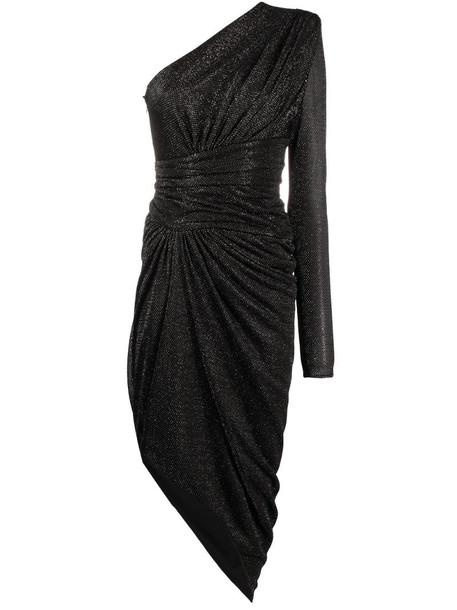 Alexandre Vauthier one-shoulder glitter dress in black