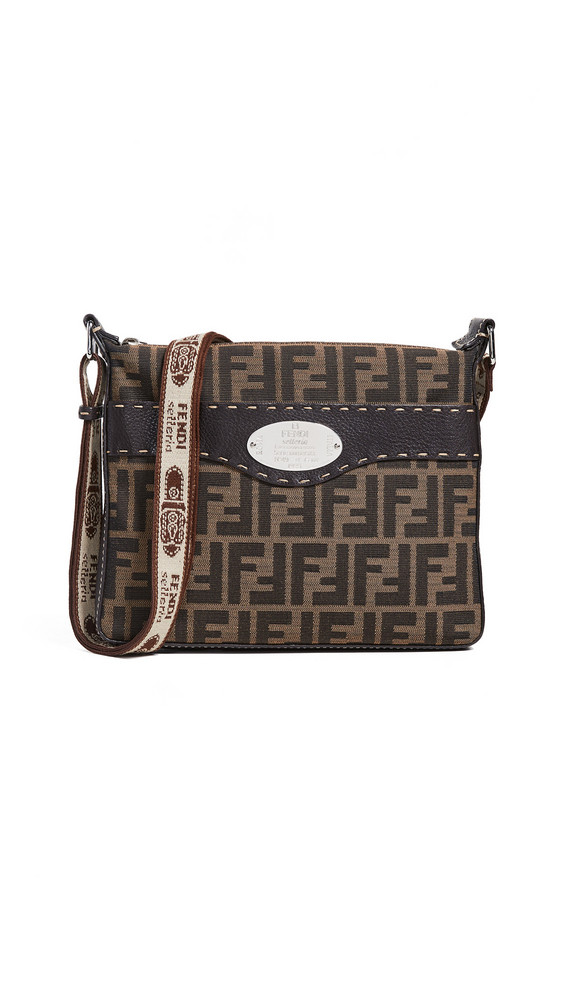 What Goes Around Comes Around Fendi Selleria Shoulder Bag in brown