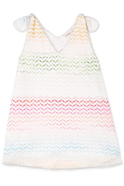 Missoni Kids - Metallic-trimmed Crochet-knit Dress - Pink