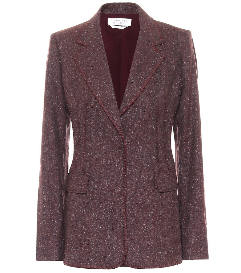 Gabriela Hearst Minos wool-blend blazer in purple