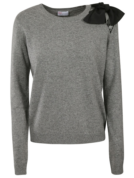 RED Valentino Ribbed Sweater in grey