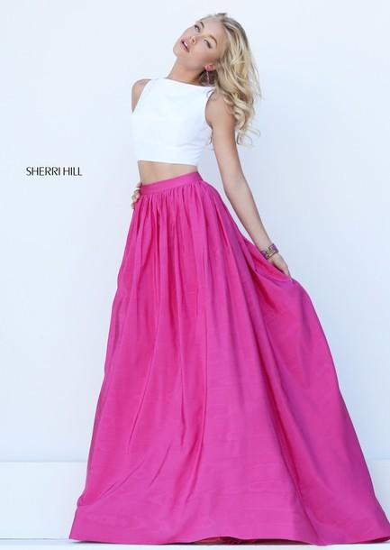 dress prom dress two piece sherri hill 50459