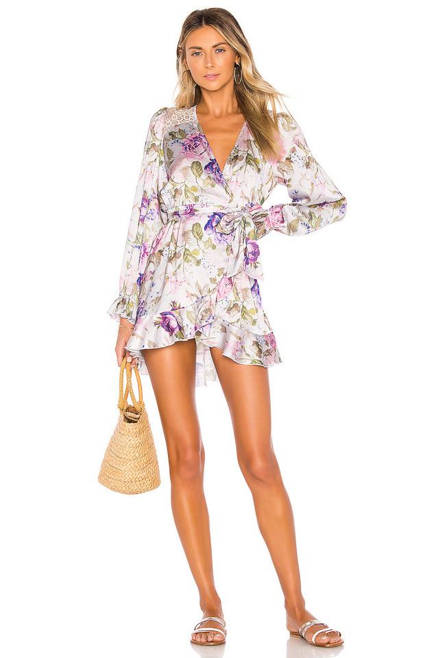 BEACH RIOT x V. Chapman Lotus Wrap Dress in purple