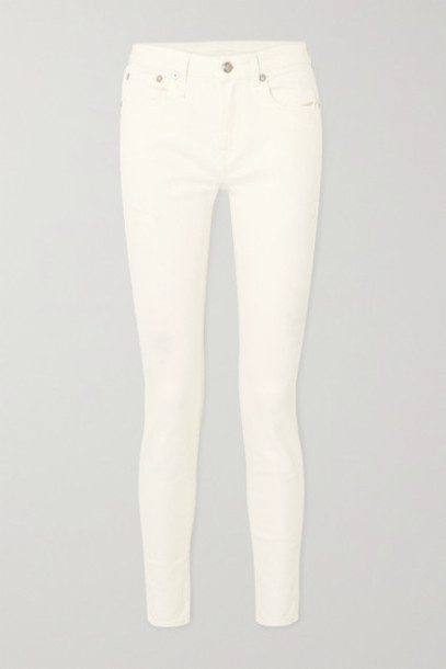 R13 - Alison Mid-rise Skinny Jeans - White