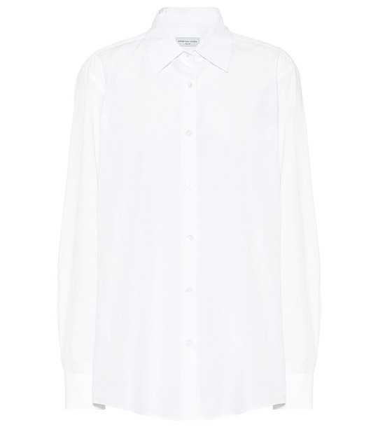 Dries Van Noten Cotton-poplin shirt in white