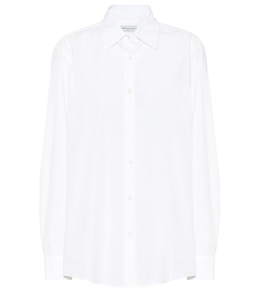 Dries Van Noten Cotton-poplin shirt in white
