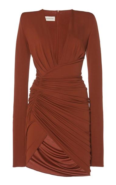 Alexandre Vauthier Ruched Satin Mini Dress Size: 40