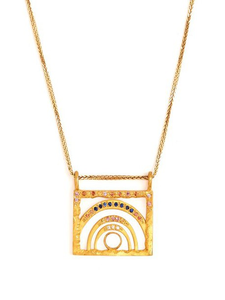 Orit Elhanati - Tel Aviv Sapphire, Opal & 18kt Gold Necklace - Womens - Gold