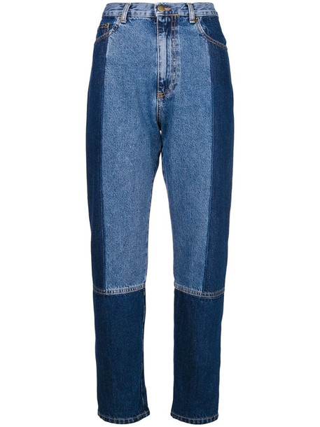 McQ Swallow vintage panelled jeans in blue