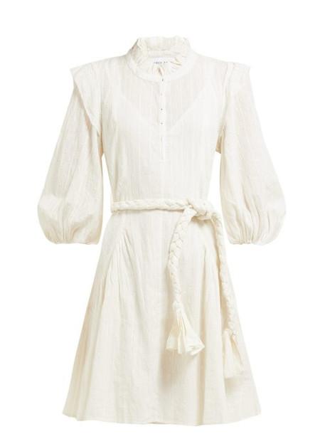 Apiece Apart - Rafaela Swiss Dot Cotton Mini Dress - Womens - Cream