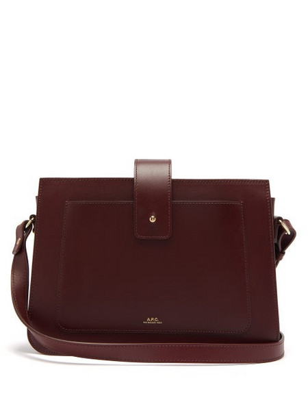 A.P.C. A.p.c. - Albane Smooth-leather Cross-body Bag - Womens - Burgundy