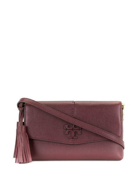 Tory Burch McGraw leather crossbody bag in red