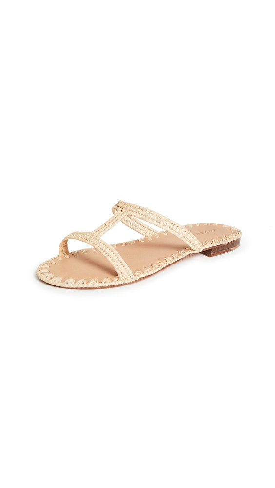 Carrie Forbes Iris Slide Sandals in natural