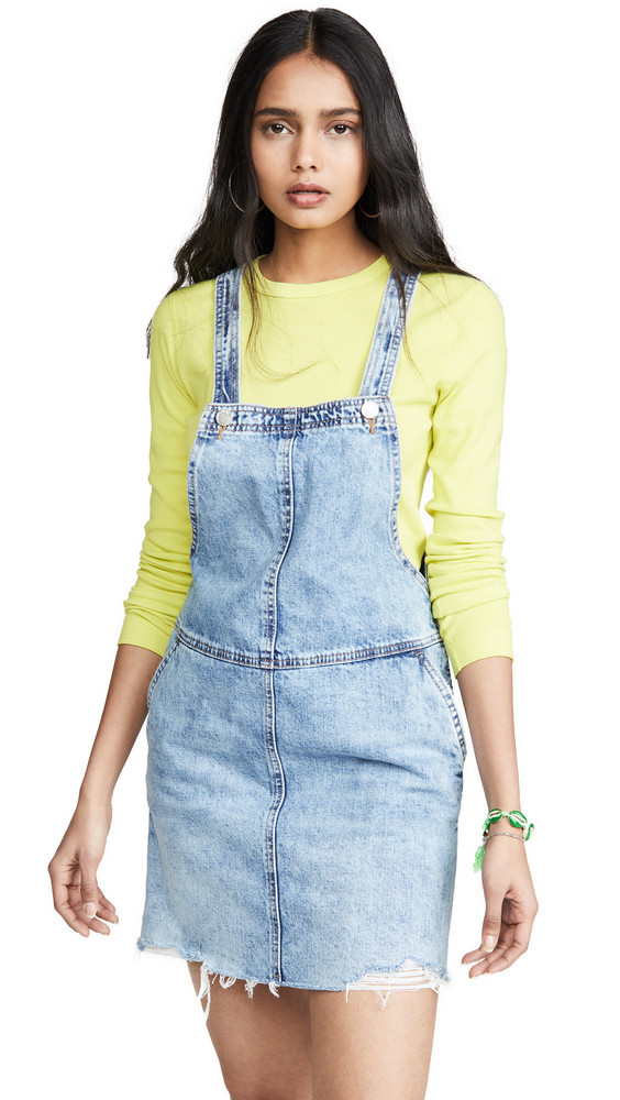Blank Denim Blow the Bag Overall Dress in blue