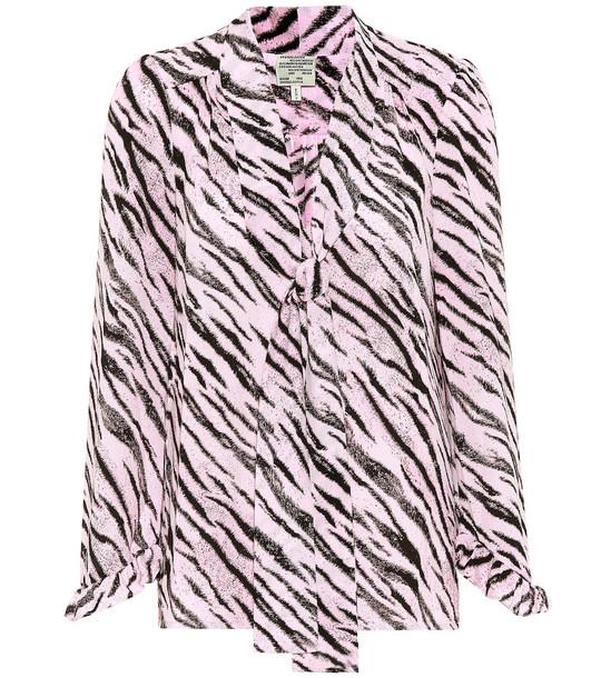 Baum und Pferdgarten Exclusive to Mytheresa – Malia tiger-printed blouse in pink