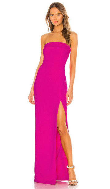 Jay Godfrey Oliver Gown in Fuchsia