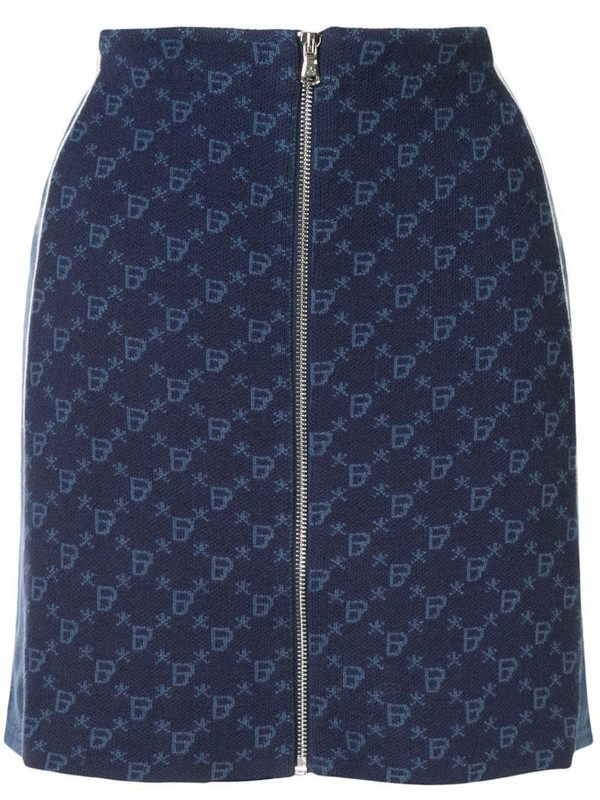 BAPY BY *A BATHING APE® fitted monogram skirt in blue