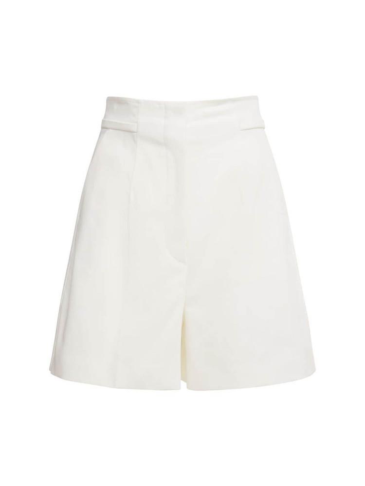 SPORTMAX Placido Cotton Gabardine Shorts in white