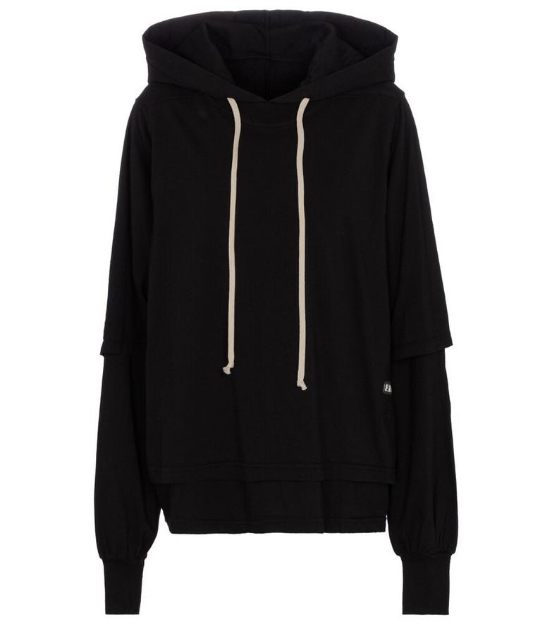 Rick Owens DRKSHDW Hustler cotton hoodie in black