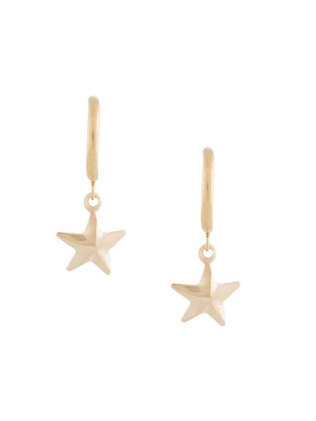 Petite Grand Gold Star half loop earrings