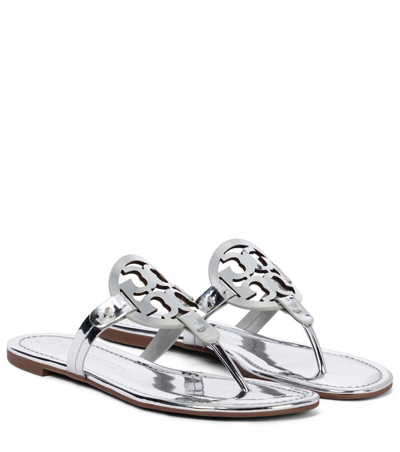 Tory Burch Miller PVC thong sandals in silver