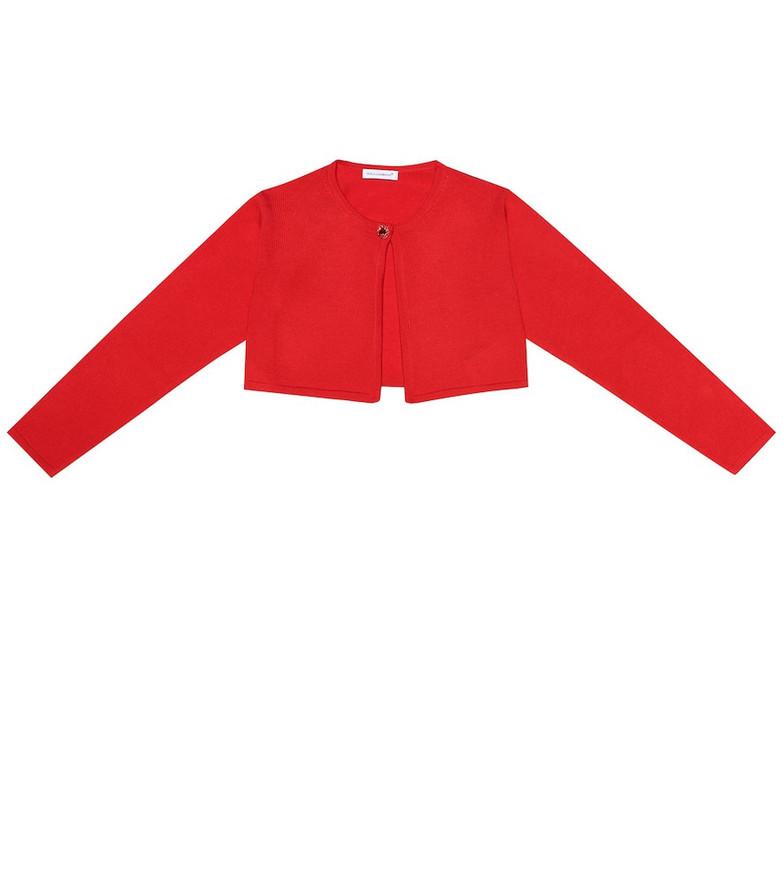 Dolce & Gabbana Kids Embellished wool cardigan in red