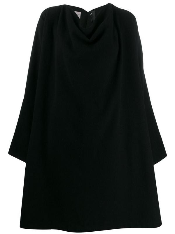 Yohji Yamamoto Pre-Owned 1990s draped loose-fit knee-length coat in black