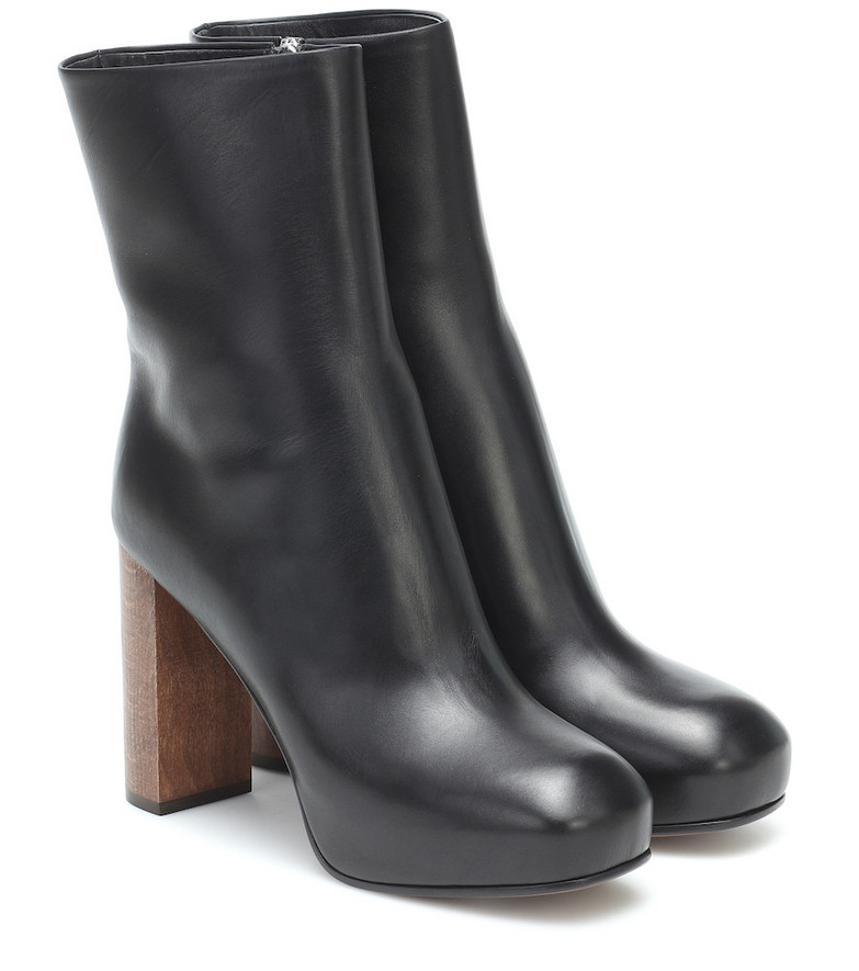 Neous Sarin leather platform boots in black