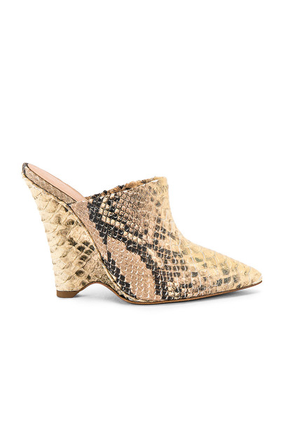 YEEZY SEASON 8 Python Wedge Mule Pump in brown