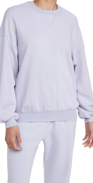 Sablyn Fleece Pullover Sweatshirt in lavender
