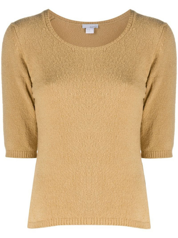 Avant Toi short-sleeved sweater in neutrals