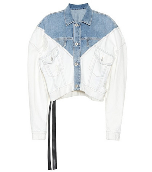 Unravel Cropped denim jacket in white