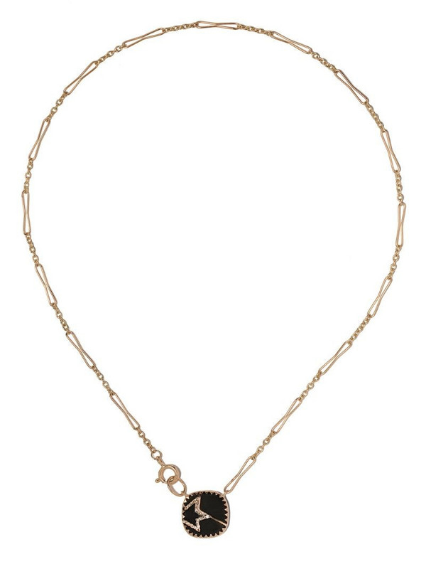 Pascale Monvoisin 9kt yellow gold diamond Varda Nº2 necklace