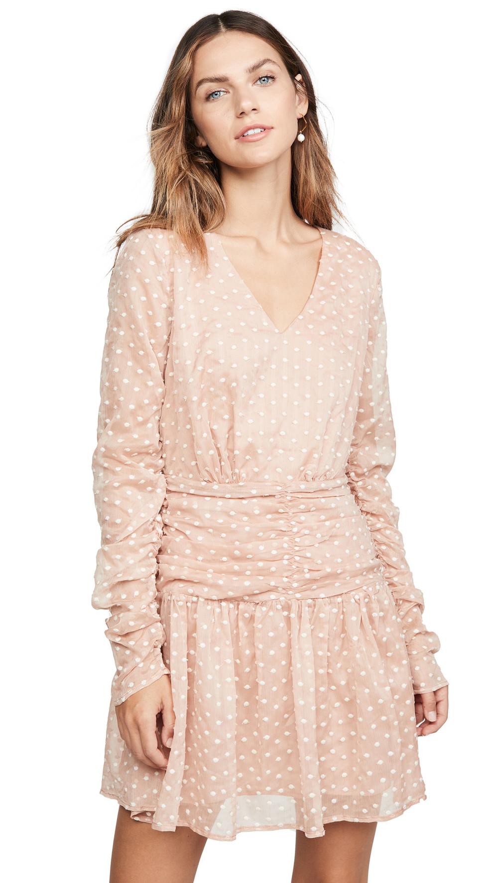 endless rose Polka Dot Mini Dress in pink
