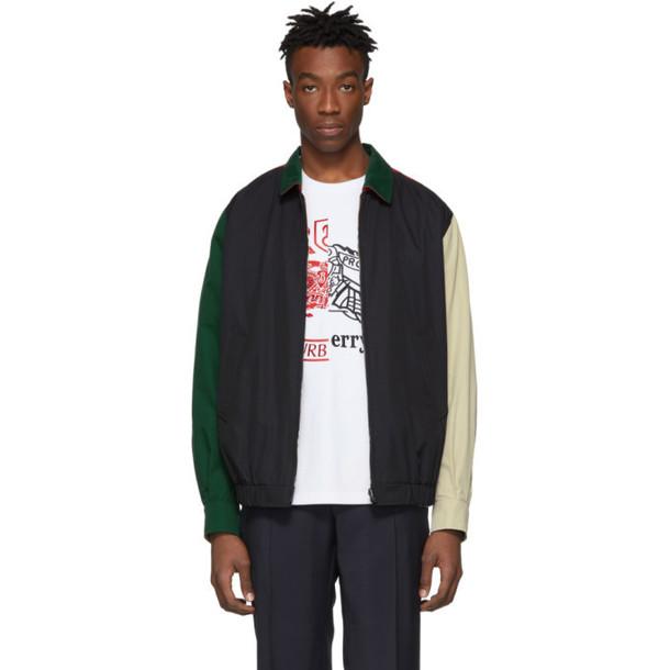Burberry Reversible Multicolor Colorblock Cadshaw Jacket