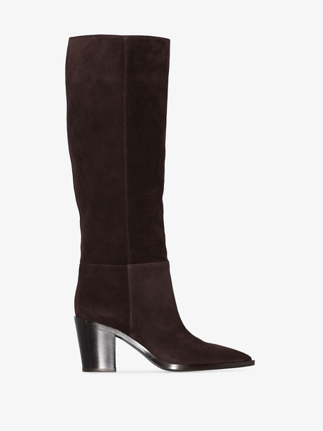 Gianvito Rossi slouch 70mm knee-high boots in brown
