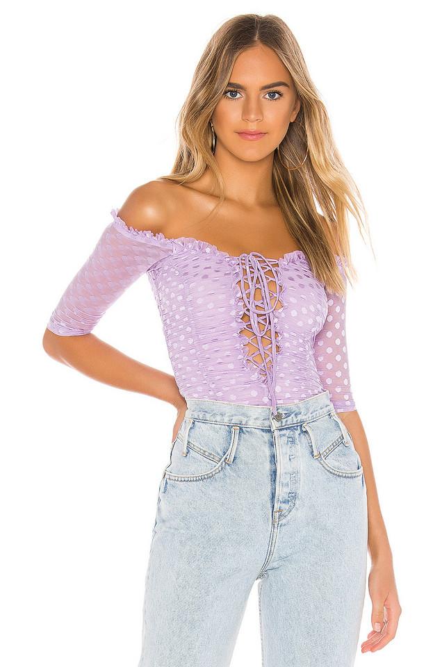 MAJORELLE Selina Bodysuit in purple