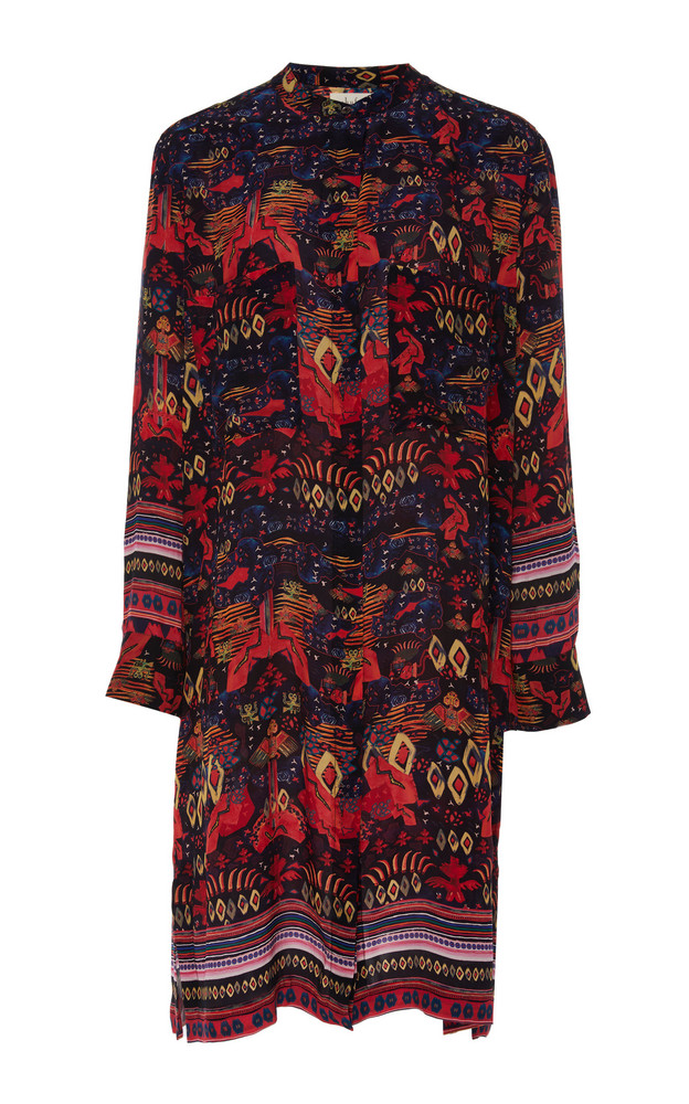 Chufy Nazca Wrap-Effect Broadcloth Dress in print