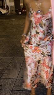 dress,long dress,pink dress,floral,floral dress,fashion vibe,fashion