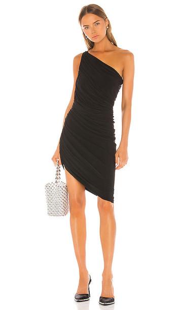 Norma Kamali Diana Mini Dress in Black