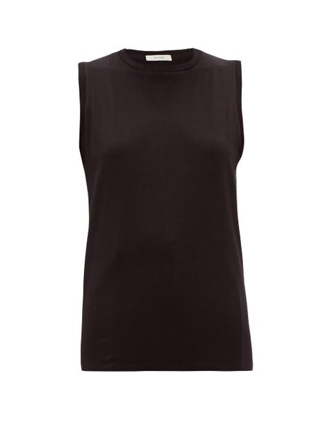 The Row - Mani Sea Island Cotton Tank Top - Womens - Black