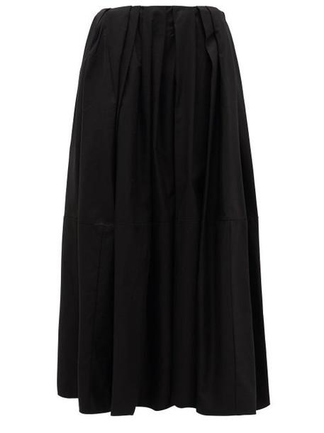 Khaite - Meryl Pleated-waist Cotton Maxi Skirt - Womens - Black