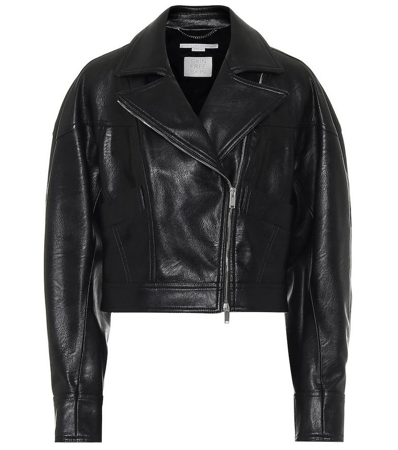 Stella McCartney Faux-leather jacket in black
