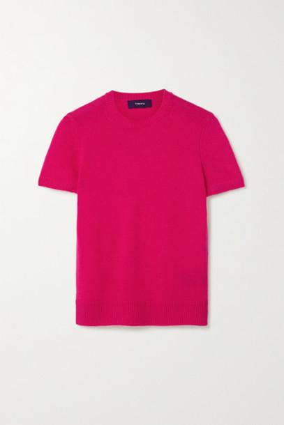 Theory - Cashmere Sweater - Fuchsia