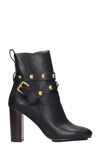 See by Chloé See by Chloé Janis Ankle Boots In Black Leather