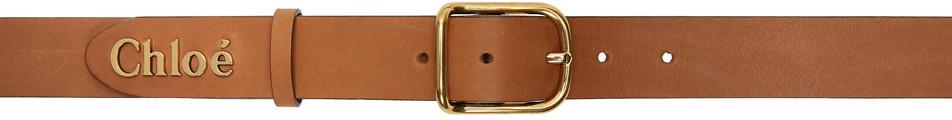 Chloé Chloé Brown Classic Logo Belt