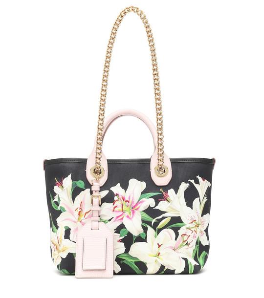 Dolce & Gabbana Capri Small floral canvas tote